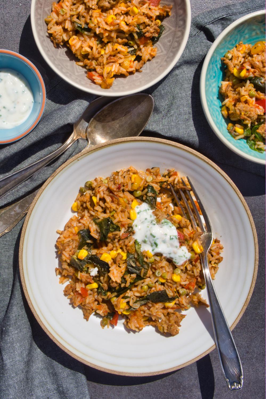 One Pot Tex-Mex Reispfanne